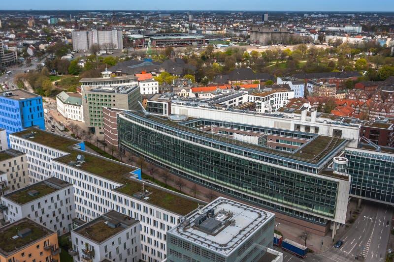 Vista aerea di Amburgo in Germania fotografia stock