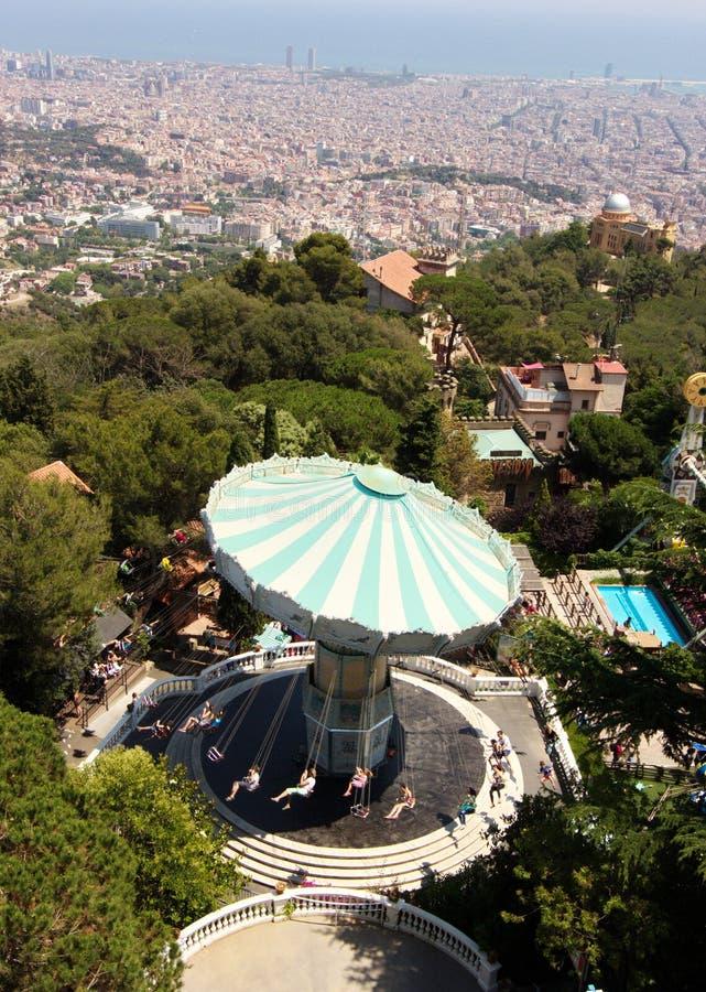 Vista aerea di Barcellona Spagna fotografia stock