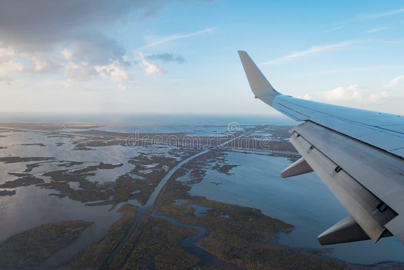 Vista aerea di bello paesaggio del lato del paese immagine stock