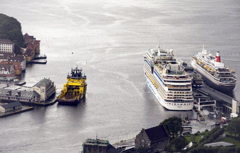Vista aerea di Bergen immagini stock libere da diritti