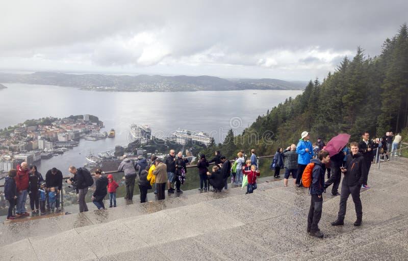 Vista aerea di Bergen fotografia stock libera da diritti