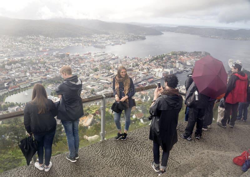 Vista aerea di Bergen immagine stock