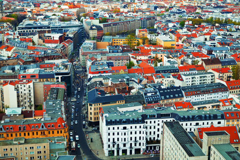 Vista aerea di Berlino fotografia stock