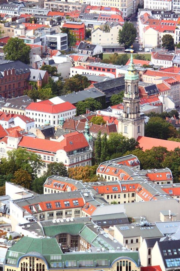 Vista aerea di Berlino immagine stock