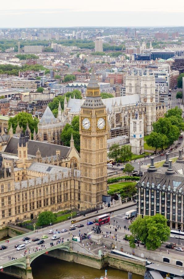 Vista aerea di big ben camere del parlamento londra for Camere parlamento