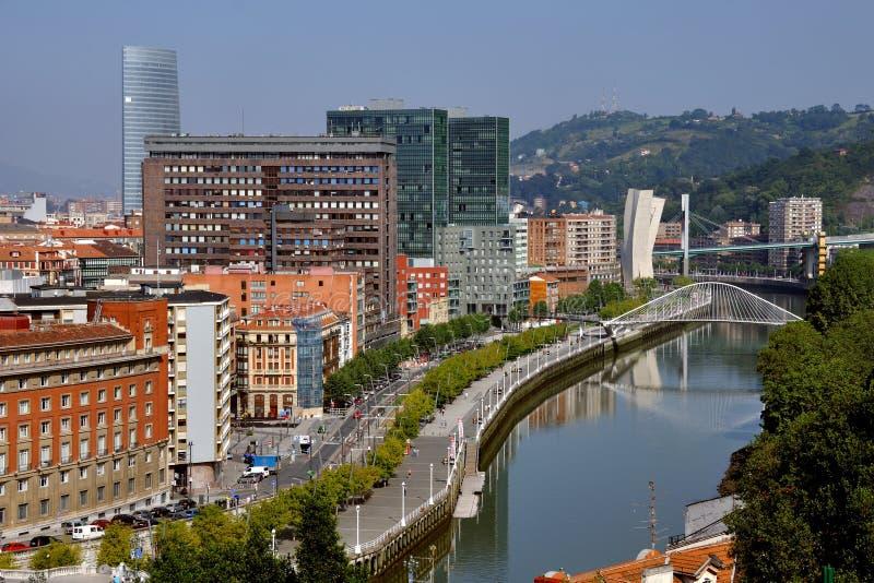 Vista aerea di Bilbao, Spagna fotografia stock libera da diritti