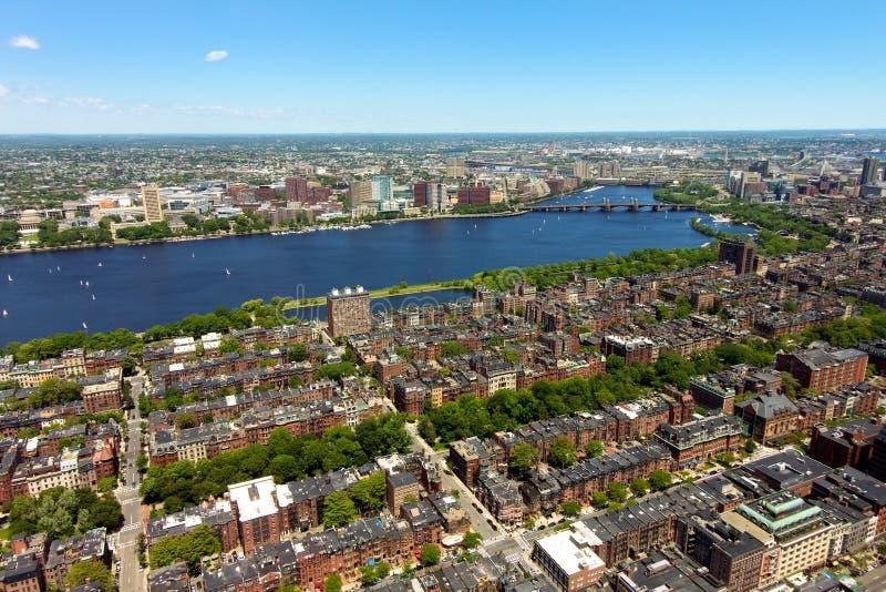 Vista aerea di Boston fotografie stock libere da diritti