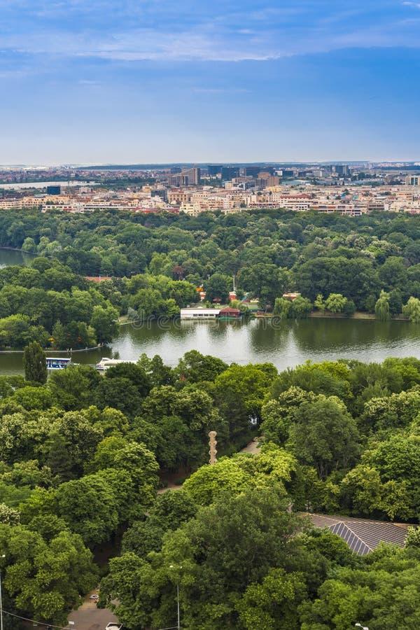 Vista aerea di Bucarest immagine stock libera da diritti