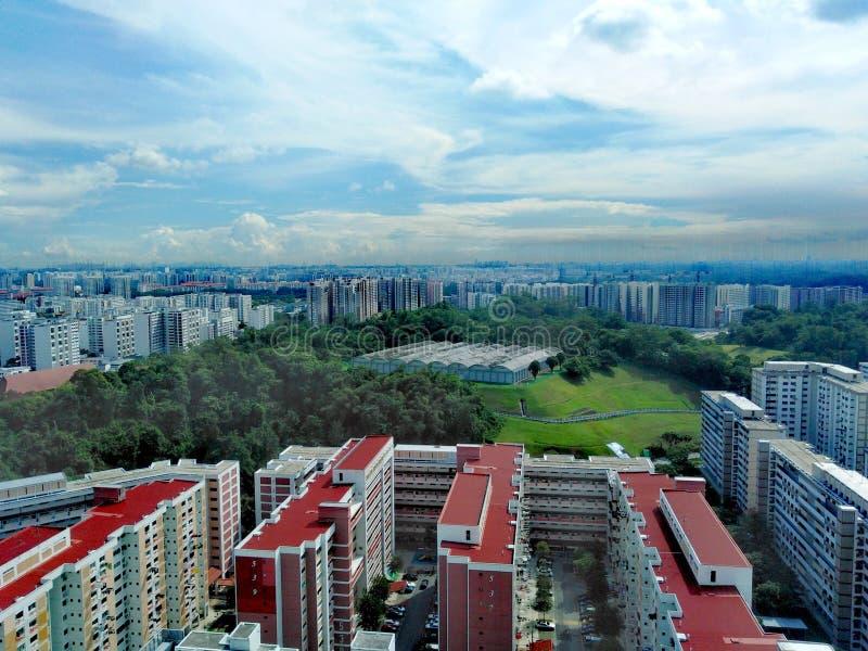 Vista aerea di Bukit Batok immagini stock libere da diritti