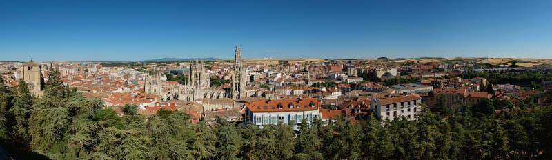 Vista aerea di Burgos immagini stock