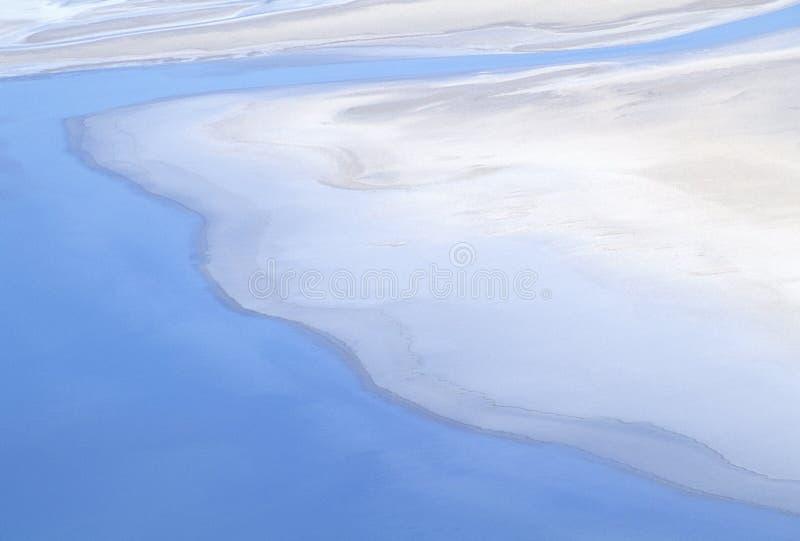 Vista aerea di cattiva acqua, Death Valley, California fotografia stock