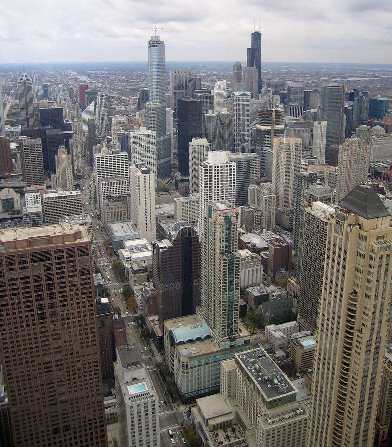 Vista aerea di Chicago immagini stock