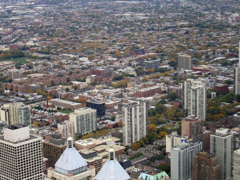Vista aerea di Chicago fotografia stock libera da diritti
