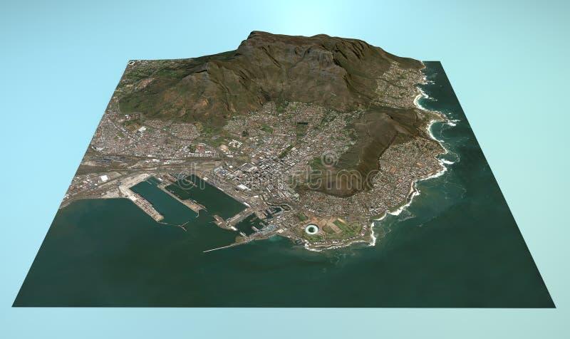 Vista aerea di Città del Capo illustrazione vettoriale