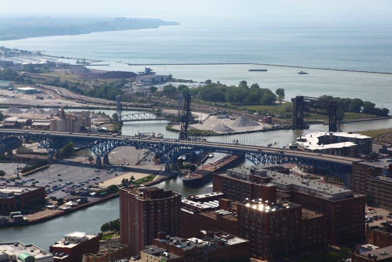 Vista aerea di Cleveland, Ohio fotografie stock