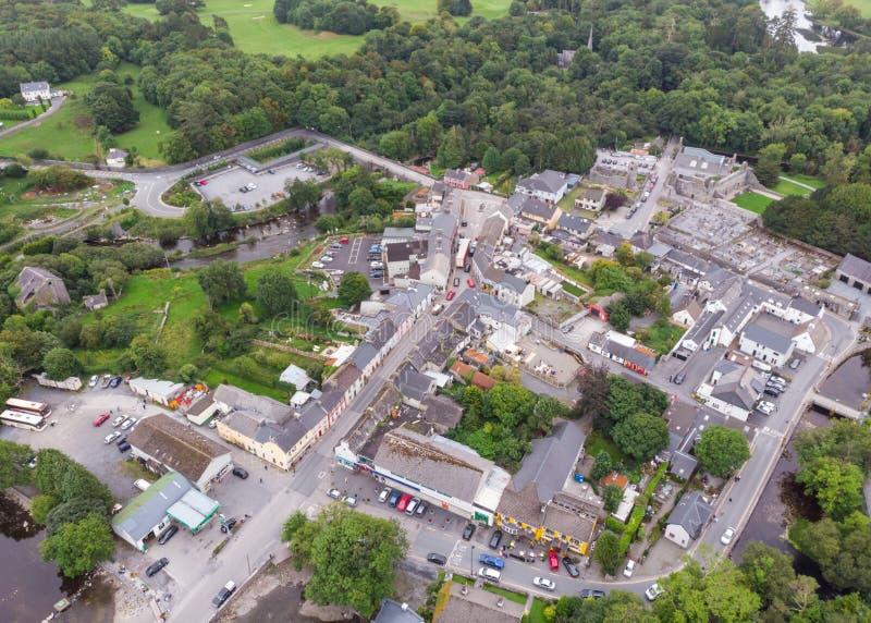 Vista aerea di Cong in Irlanda immagini stock libere da diritti