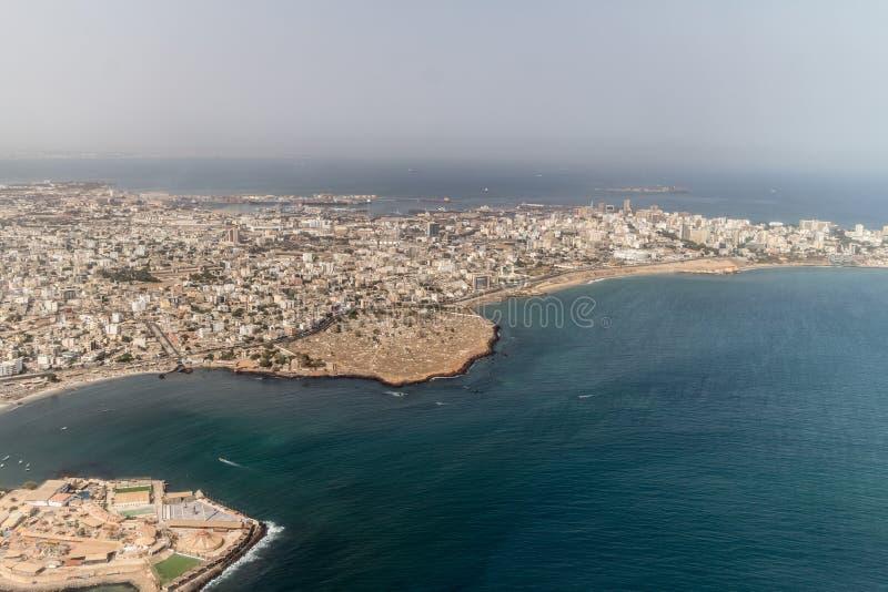 Download Vista aerea di Dakar fotografia stock. Immagine di scena - 56884416