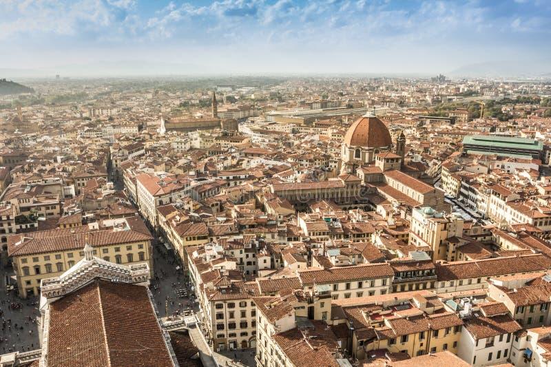 Vista aerea di Firenze immagine stock libera da diritti