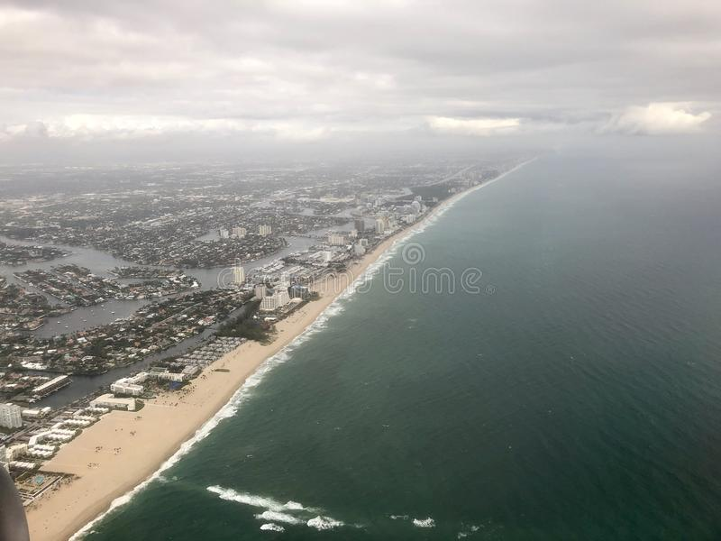 Vista aerea di Florida fotografie stock libere da diritti
