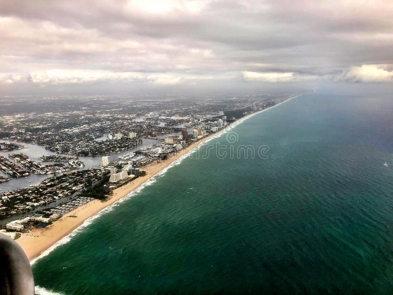 Vista aerea di Florida fotografia stock