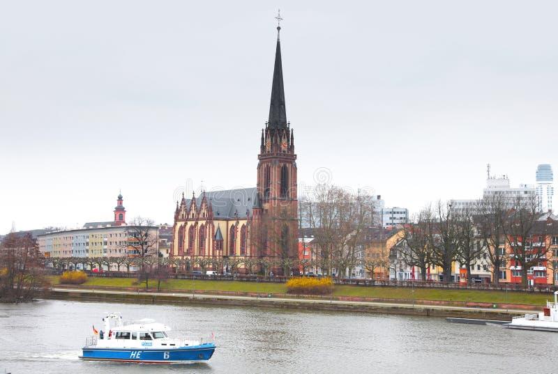 Vista aerea di Francoforte sul Meno fotografie stock libere da diritti