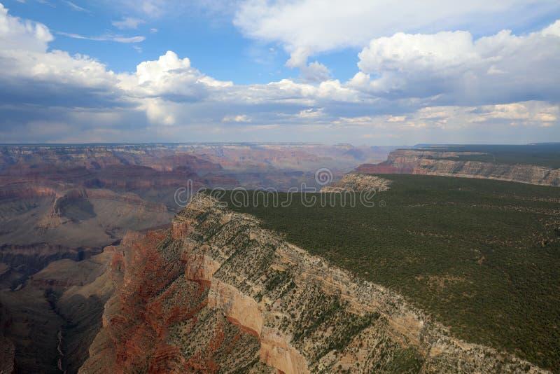Vista aerea di grande canyon immagine stock