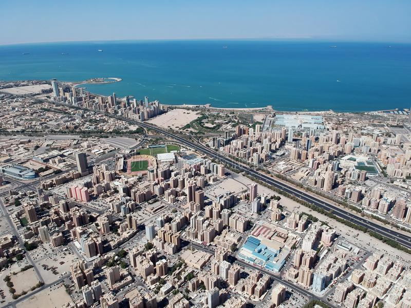 Vista aerea di Hawalli Kuwait un bello giorno di estate fotografia stock