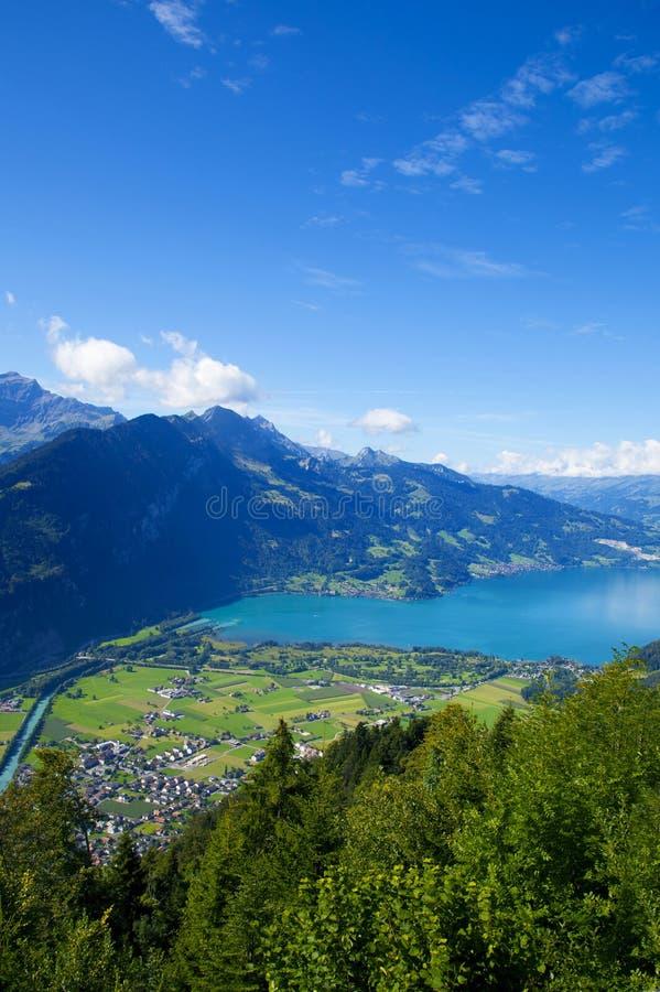 Vista aerea di Interlaken fotografie stock libere da diritti