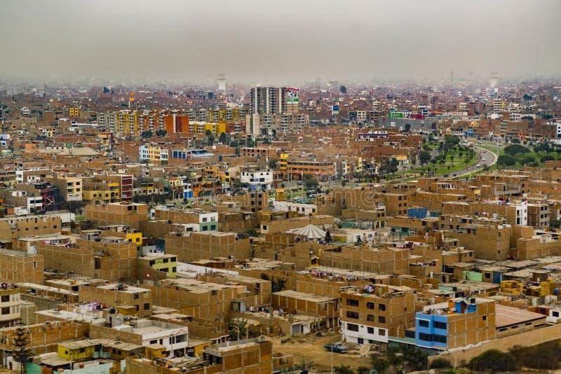 Vista aerea di Lima Outskirt, Perù immagini stock