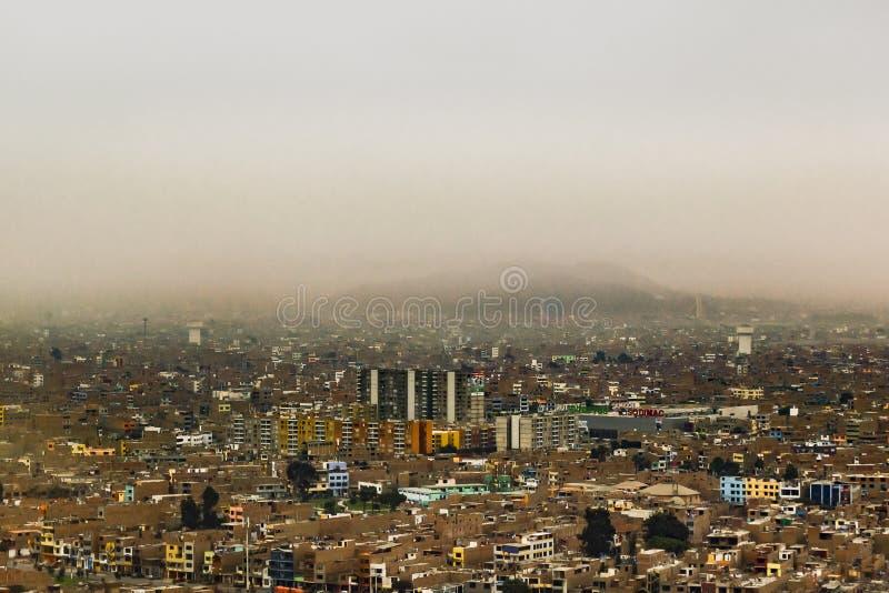 Vista aerea di Lima Outskirt, Perù immagine stock libera da diritti