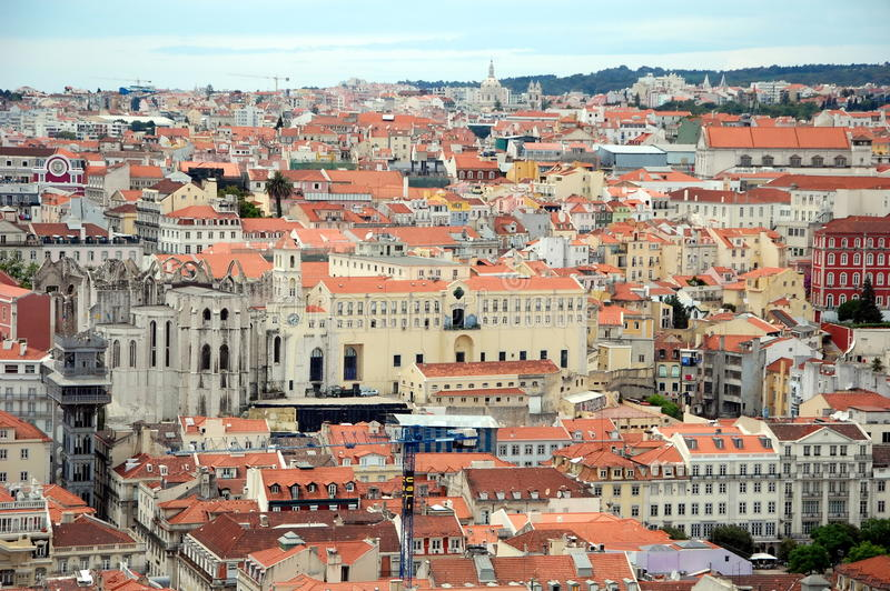 Vista aerea di Lisbona fotografia stock libera da diritti