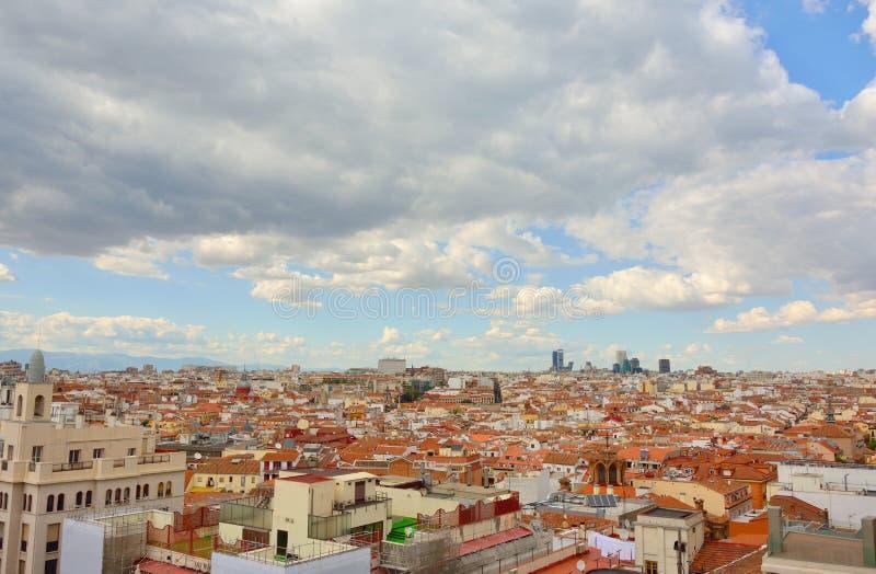 Vista aerea di Madrid fotografie stock libere da diritti