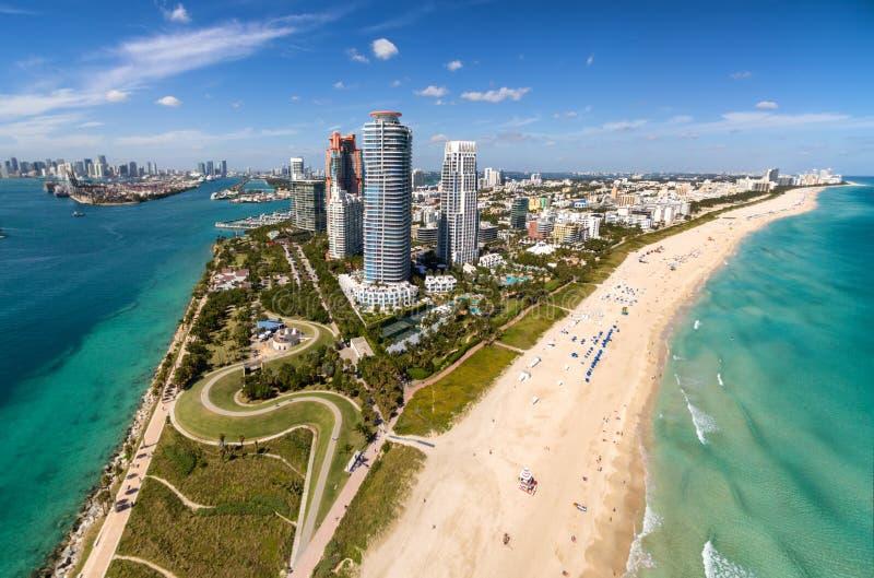 Vista aerea di Miami Beach del sud immagine stock