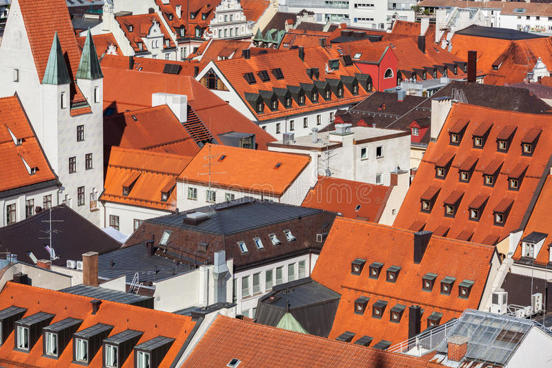 Vista aerea di Monaco di Baviera fotografie stock libere da diritti
