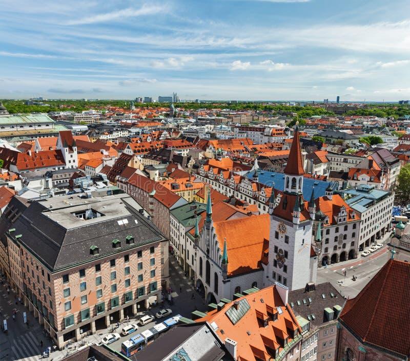Vista aerea di Monaco di Baviera immagini stock libere da diritti