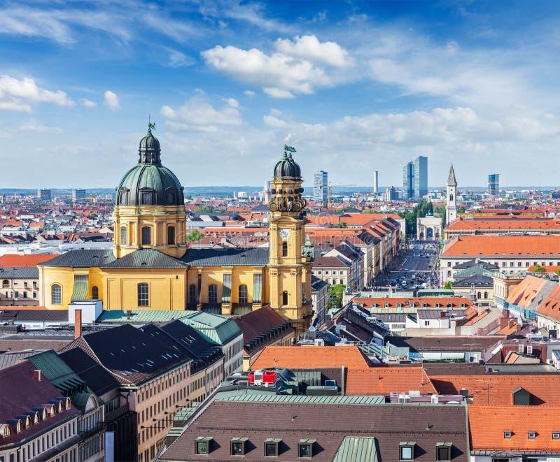 Vista aerea di Monaco di Baviera fotografia stock