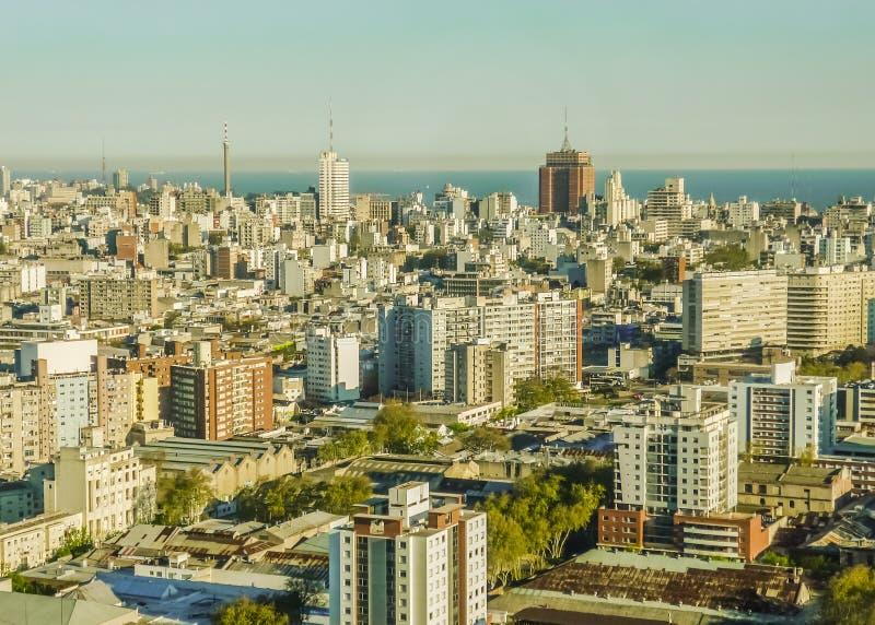 Vista aerea di Montevideo immagini stock libere da diritti