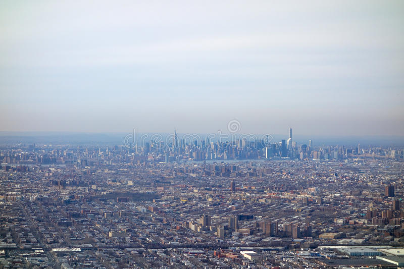 Vista aerea di NY fotografia stock libera da diritti