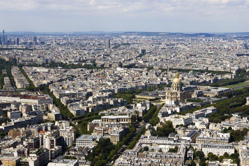 Vista aerea di Parigi da Montparnasse immagine stock libera da diritti