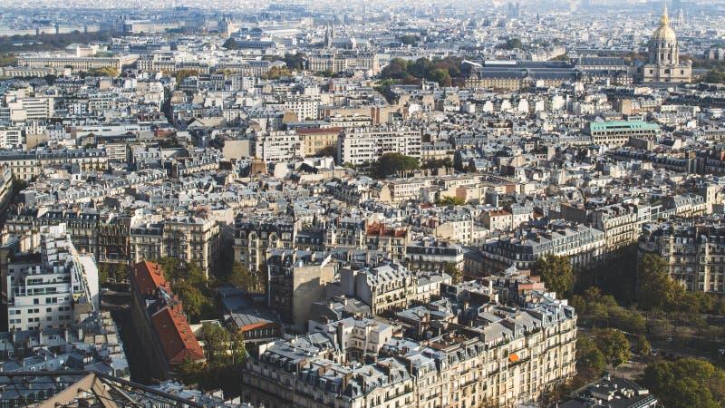 Vista aerea di Parigi, Francia immagini stock libere da diritti