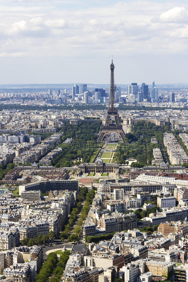 Vista aerea di Parigi, Francia da Montparnasse fotografia stock