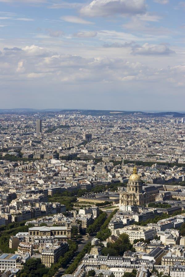 Vista aerea di Parigi, Francia da Montparnasse fotografia stock libera da diritti