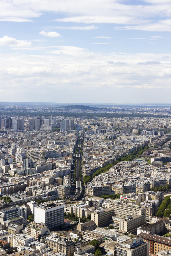 Vista aerea di Parigi, Francia da Montparnasse immagini stock