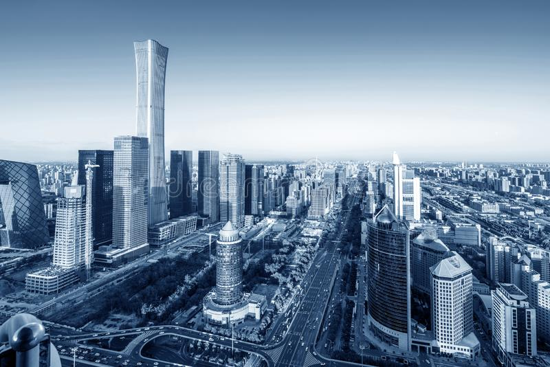 Vista aerea di Pechino fotografia stock