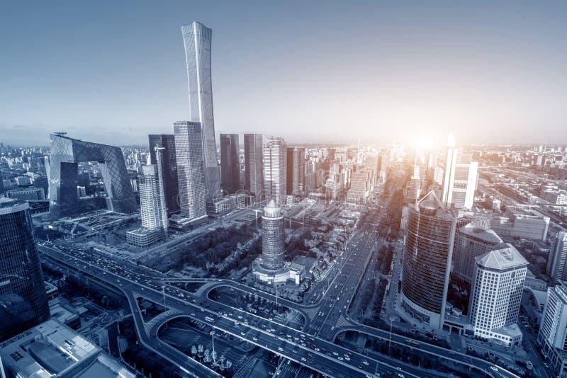 Vista aerea di Pechino fotografie stock