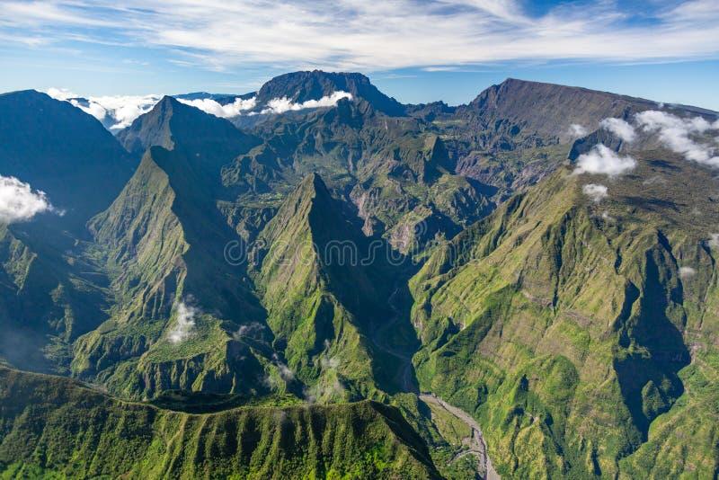 Vista aerea di Reunion Island immagine stock libera da diritti