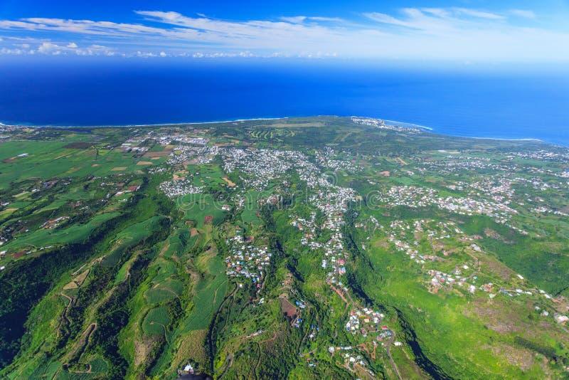 Vista aerea di Reunion Island immagini stock