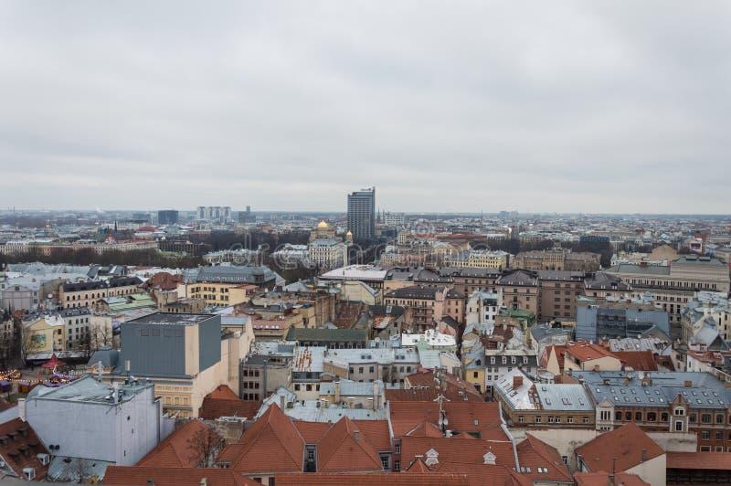 Vista aerea di Riga Lettonia fotografie stock
