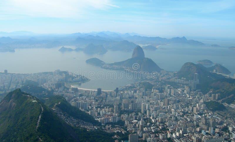 Vista aerea di Rio de Janeiro, Brasile immagini stock