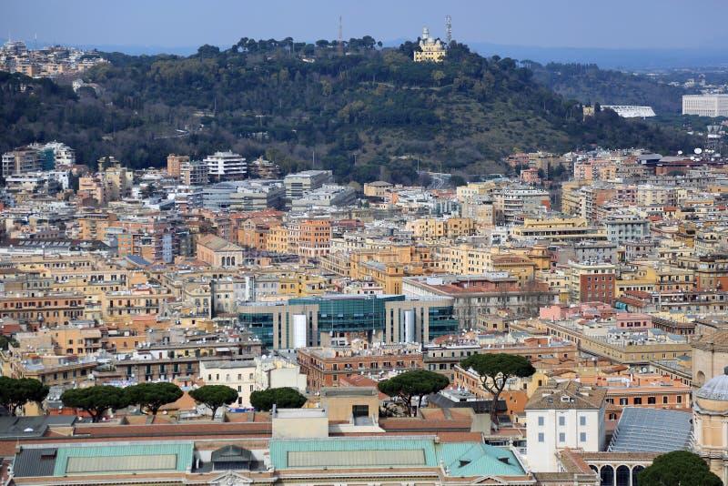Vista aerea di Roma fotografie stock